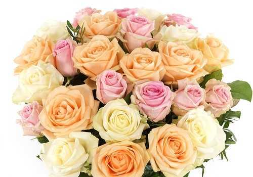 Boeket pastel rozen