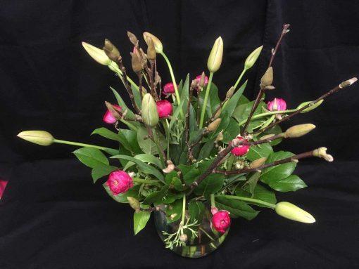 Exclusieve Franse tulpen met magnolia