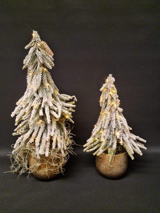 set kunstkerstboompjes